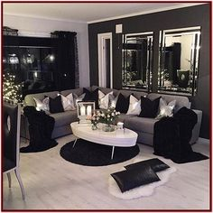 Black and Silver Living Room Decor 80 Stunning Small Living Room Decor Ideas for Your Apartment Living Room Decor Cozy, Living Room Grey, Living Room Modern, Home Living Room, Apartment Living, Small Living, Cozy Living, Girl Apartment Decor, Apartment Design
