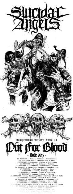 SUICIDAL ANGELS_Riddick_Moshing Crew Angel Band, Metal Shirts, Metal Albums, Top Band, Death Metal, Metal Bands, Music Bands, Shirt Ideas, Black Metal
