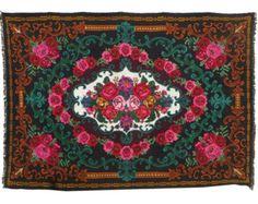 Tapis kilim laine avec fleurs 182 cm x 273 cm rose par Rugstory