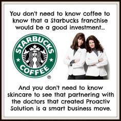 Very SIMPLE!  1) Partner with a Billion Dollar Brand (Proactiv Doctors)  2) Products for everyone with skin with focus on aging a 3 Billion Dollar Industry  3) Timing is everything in direct sells (before we go GLOBAL) http://angelaozdemir.myrandf.biz