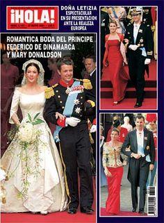 Capa da revista ¡HOLA! do Casamento de Frederik, Príncipe Herdeiro da Dinamarca e Mary Donaldson.
