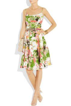 Floral-print silk dress - Summer it is!
