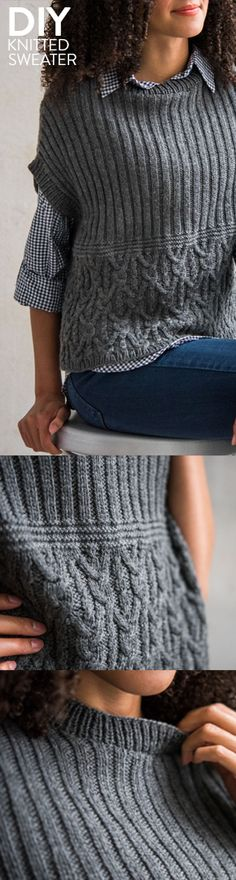 Layer up for variable temps this spring with a handmade knit sweater.