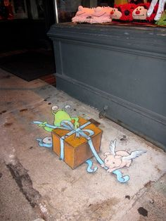 *Chalk art~~By David Zinn