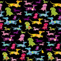 Dachshund Fabric fabric by lilly-allerlei on Spoonflower - custom fabric