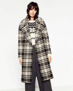 Image 2 of CHECK MAXI COAT from Zara