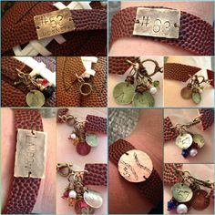 Handmade & hand stamped Football Spirit Bracelets from Treasured Trinkets find on Facebook! $25.00