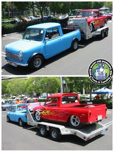 Mornin Miniacs Opening the #TowinTuesday show is a frickin awesome combo from our friends Over The Pond. The Pup with the 5th Wheel and trailer is cool but the Custom Pup on the trailer! hubba Hubba HUBBA! Have a great day folks