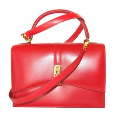 Rare Authentic Hermes Kelgo Bag 2 ways Rouge Gold Hardware   From a collection of rare vintage shoulder bags at https://www.1stdibs.com/fashion/handbags-purses-bags/shoulder-bags/
