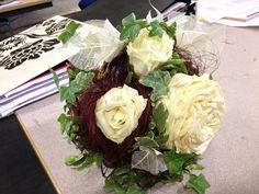My Carmen rose bouquet