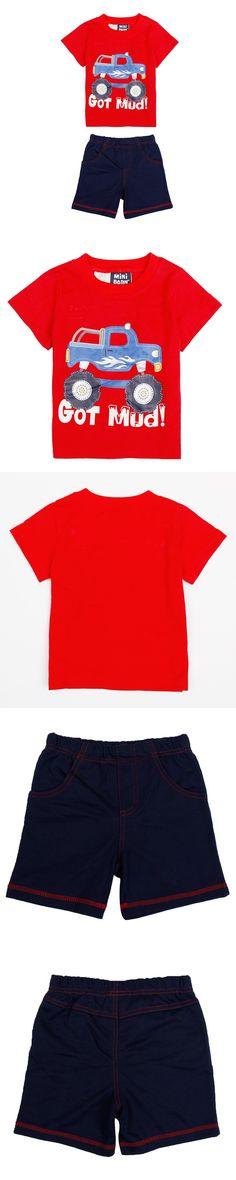 Retail children clothes sets summer short sleeve appiques patten boy clothes sets nova kids baby boys clothing sets summer car $10.59
