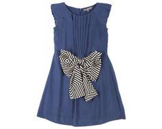Silk satin dress with pleat waist and wide node