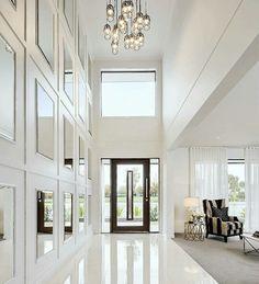 AMAZING WHITE FOYER Amazing white luxury foyer | bocadolobo.com/ #modernentryway #entrywayideas