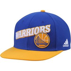 a14997ac7e21be Men's adidas Royal/Gold Golden State Warriors Two-Tone Stretch Adjustable  Snapback Hat