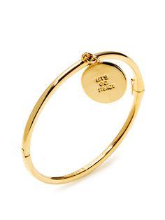 Let's Go Steady Charm Bangle Bracelet $35