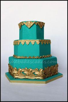 Princess jasmine wedding cake