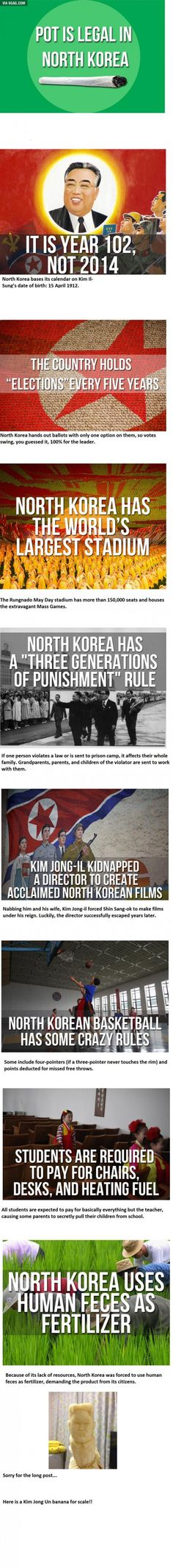 Some facts about North Korea!