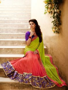 Multi Faux Georgette Elegant And #Royal #Saree View More: www.greattrendz.com