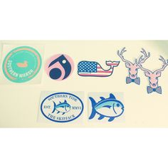 Preppy Stickers!  Southern Marsh, Lokai, Vineyard Vines, Jadelynn Brooke and Southern Tide!