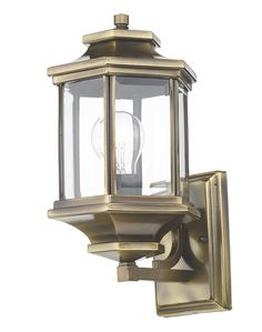HICKS&HICKS Ladbroke Wall lantern - The Ladbroke antique brass outdoor wall light with attractive bevelled clear glass. A very attractive porch light with a subtle antique brass finish. Outdoor Hanging Lanterns, Outdoor Wall Lantern, Outdoor Walls, Dar Lighting, Outdoor Wall Lighting, Exterior Lighting, Carriage Lights, Garden Wall Lights, Beveled Glass