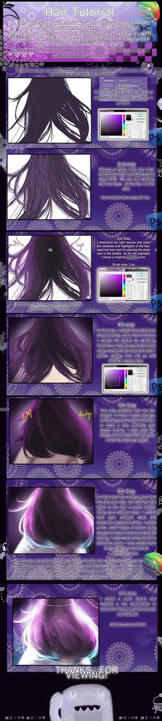 Hair tutorial by ChooeyChoco.deviantart.com on @deviantART
