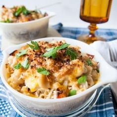 Whole Wheat Chicken & Bacon Mac 'n' Cheese. Great comfort food an...