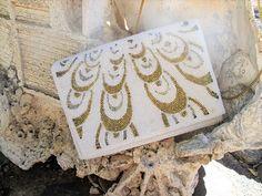 White Pearl Bead Walborg Evening Bag Gold Silver Metallic                                             #vintage #vintagepurse #evening #beaded