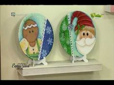 Mi Taller 2 Septiembre 2016 - YouTube Pintura Country, Christmas Ornaments, Christmas Ideas, Hello Kitty, Decorative Plates, Holiday Decor, Youtube, Crafts, Painting