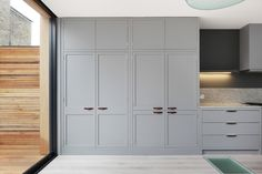 Love cupboard profile and colour for wardrobe doors in bedroom complete with leather handles