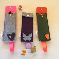 Pen case with elastic band for notebooks Felt Pencil by ShansBag