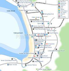 Patong Beach Map