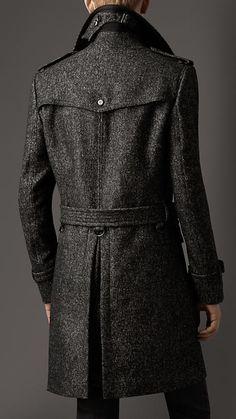 Wool Tweed Belted Coat | Burberry