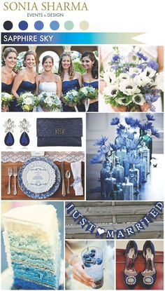Pretty sure this could be, for the most part, Elizabeth's board.  We love the idea of a #Sapphire themed wedding to copy for renewing vows... praising God's design for marriage