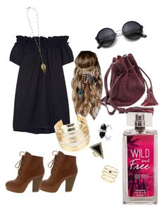 """Wild + Free"" by caseyalexis on Polyvore featuring Clu, LOVMELY, WithChic, House of Harlow 1960, Accessorize, women's clothing, women's fashion, women, female and woman"