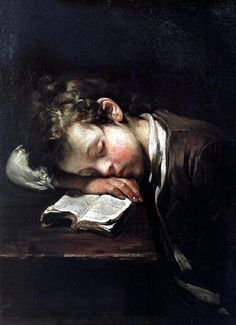 Jean-Baptiste Greuze. Reminds me of Orion learning Hooked on Phonics and tired out in May 2013. He worked hard to finish that 1st book for his lego reward!
