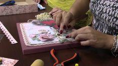 Mulher.com 03/10/2014 - Caixa com Scrap Decor por Marisa Magalhães - Par...