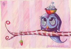 Sweet Owl by Gloria-T-Dauden.deviantart.com on @deviantART