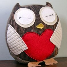 Redwood Lovers Hoot Owls Humboldt Plush Doll by buttercupbloom