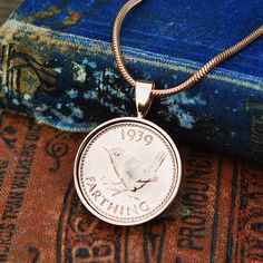 1938-1955 Coin Necklace Farthings, 1948 70th Birthday Mum Farthings English Coin Necklace Holly Willoughby Bride Necklace, Coin Necklace, Pendant Necklace, Copper Anniversary Gifts, Year Anniversary Gifts, English Coins, Holly Willoughby, Gold Plated Necklace, Present Gift