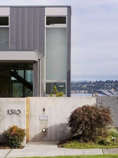 Stunning Contemporary Home Architecture Design: Exciting Stair House Exterior View Stair House Concrete Fence