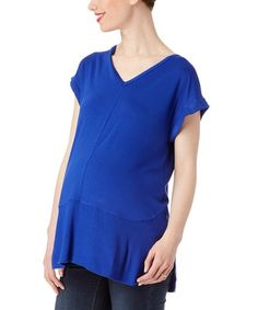 Look at this #zulilyfind! Royal V-Neck Maternity Top #zulilyfinds