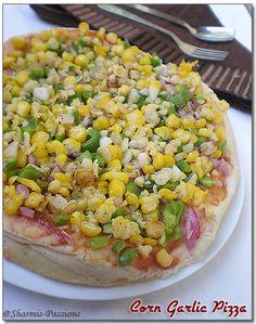 Corn Garlic Pizza