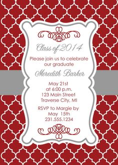 97 best graduation invitations images on pinterest graduation moroccan graduation announcements filmwisefo