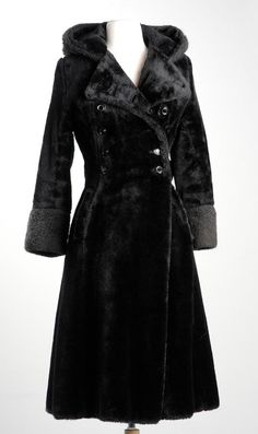 Vintage 60s MOD Military Faux Fur Black Plush by StyleandSalvage, $100.00    o I love....