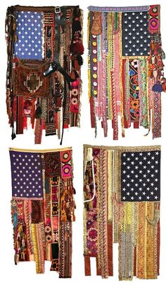 hippie flags? Pretty cool (Cool Bedrooms Boho)