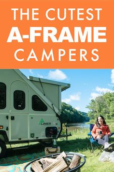 Thinking about an adorable A-frame camper for RV living? If these cute campers don't make you want to go RVing we don't know what will! We've compiled a list of the cutest and coziest A-frame RV campers for you to take with you on your next camping trip! A Frame Camper, Popup Camper, Camper Van, Cool Campers, Rv Campers, A Frame Trailer, Camper Windows, Go Camping, Camping Ideas