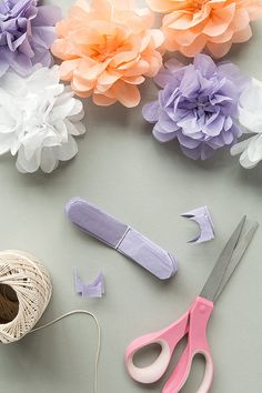 Wedding Paper Pom Poms