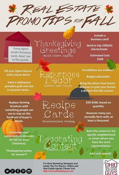 As a real estate agent, Fall season is one of the busiest times of the year. Make sure that you follow these simple tips when promoting your real estate business.  #RealEstate #RealEstateAgents #RealEstateCompanies #RealEstateMarketing  OHIO REAL ESTATE GUYS - Google+