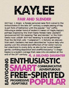 KAYLEE Personalized Name Print / Typography Print / by OhBabyNames
