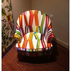 Carriacou de Pierre Frey - Jacquards et broderie - Tissus - Déco Ameublement. Home decor design furniture armchair